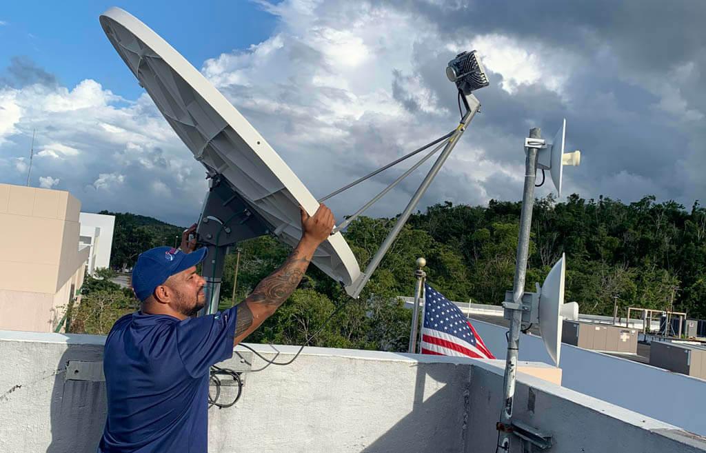 Satellite Dish Positioning